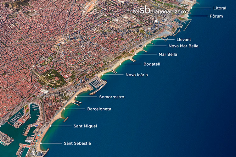 Barcelona Beach Map