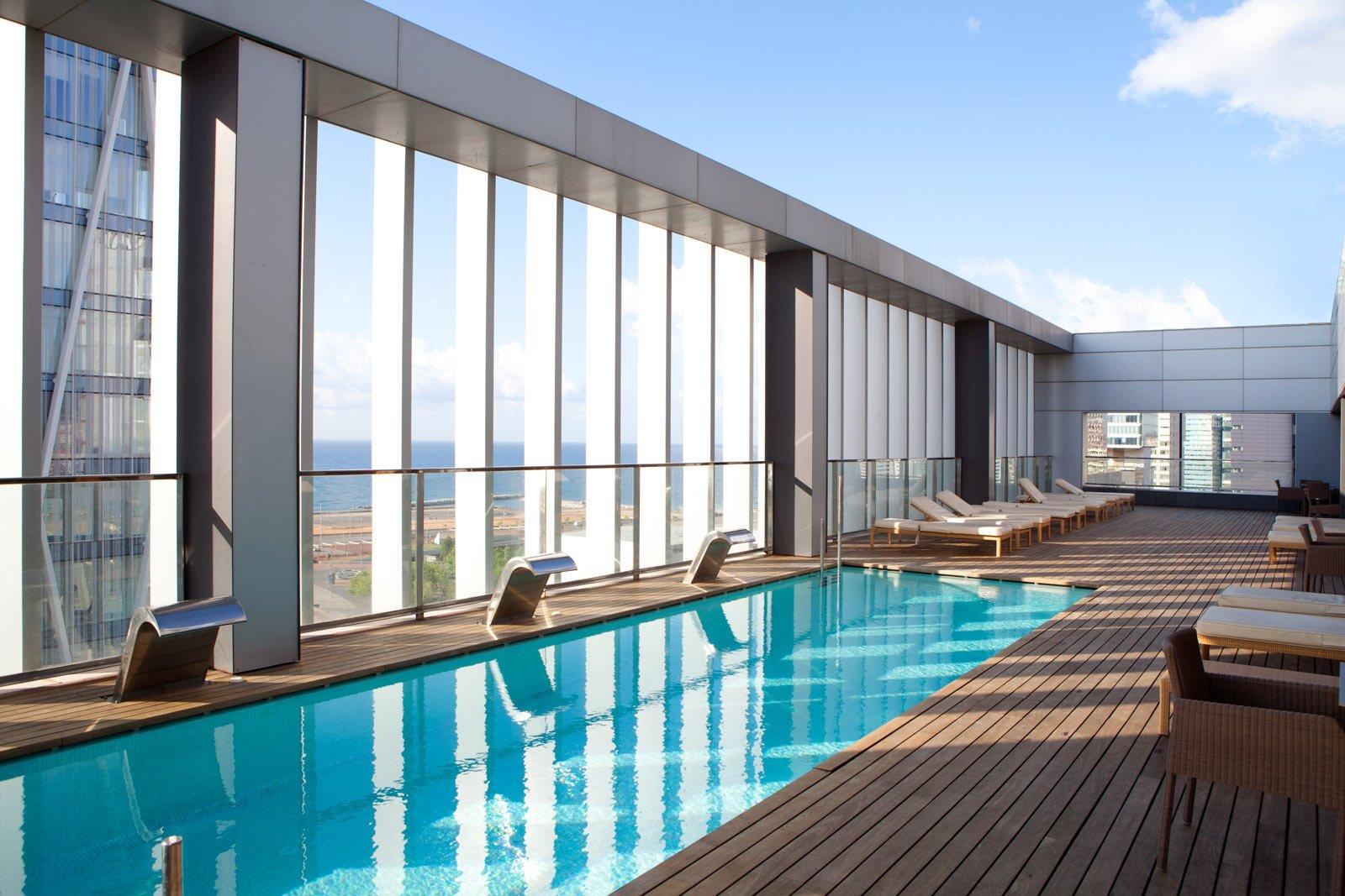 Hotel Diagonal Zero Barcelona piscina